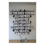 Echoes of Voices in the High Towers 73x69 150x150 Robert Montgomery <!  Light Poems  >