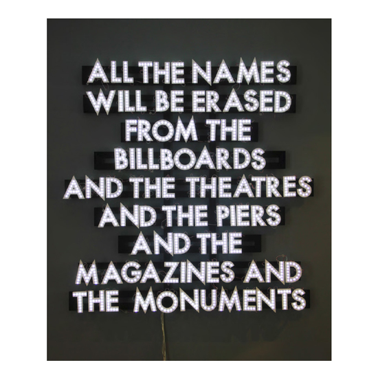 Untitled 15 Robert Montgomery <!  Light Poems  >