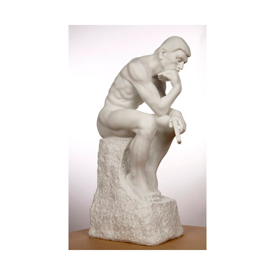TheThinker Edition8 WhiteMarble 31.5in Mauro Perucchetti
