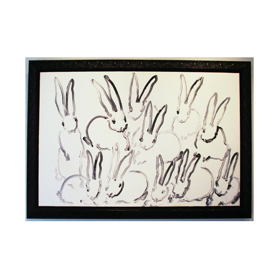 3410 hutch 5 AC1336 2012 oil on canvas 40by60 unframe 46.5by66.5 frame Hunt Slonem <!  (Old) Bunnies [do not use]  >