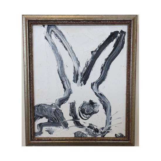 3506 untitled HS2302 2012 oil on wood 13.75by11.5 frame Hunt Slonem <!  (Old) Bunnies [do not use]  >