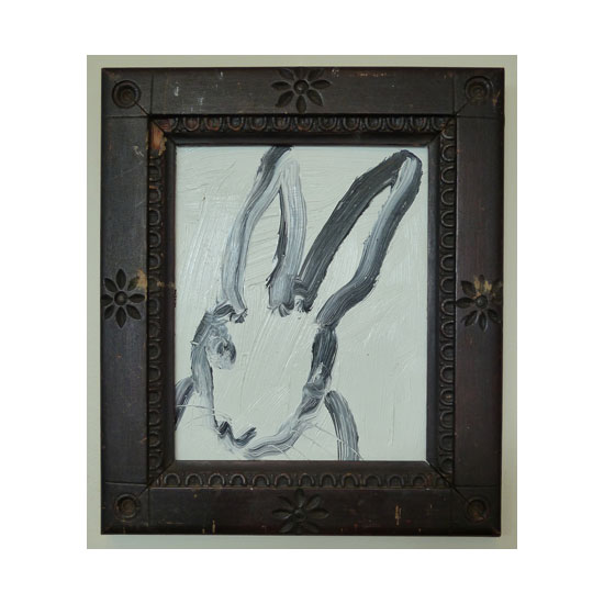 3595 untitled CS0656 2012 oil on masonite board 10by8 unframe 14by12 frame Hunt Slonem <!  (Old) Bunnies [do not use]  >