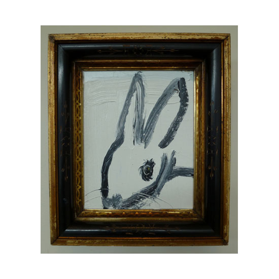 3599 untitled CS1114 2013 Oil on wood 10by8 unframe 13.5by11.25 frame Hunt Slonem <!  (Old) Bunnies [do not use]  >