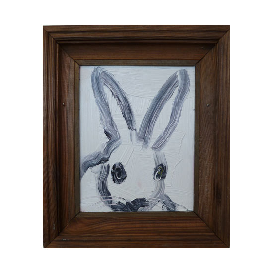 3625 untitled CS1077 2013 oil on wood 10by8 unframe 12.7by10.7 frame Hunt Slonem <!  (Old) Bunnies [do not use]  >