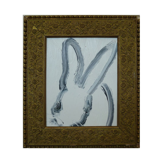 3626 untitled CS0583 2012 oil on wood 10by8 unframe 14.5by12.5 frame Hunt Slonem <!  (Old) Bunnies [do not use]  >