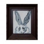 3627 untitled CS0215 2012 oil on wood 10by8 unframe 15by13 frame 150x150 Hunt Slonem <!  Bunnies  >