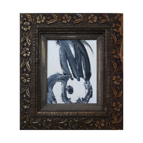 3628 untitled CS0191 2012 oil on wood 10by8 unframe 17.5by15.5 frame Hunt Slonem <!  (Old) Bunnies [do not use]  >