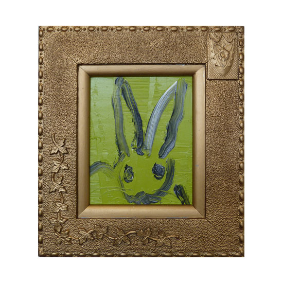 3629 untitled AT0361 2013 oil on wood 10by8 unframe 17by15 frame Hunt Slonem <!  (Old) Bunnies [do not use]  >