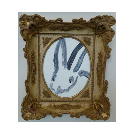 3631 untitled CS1138 2013 oil on wood 11by9 frame Hunt Slonem <!  (Old) Bunnies [do not use]  >