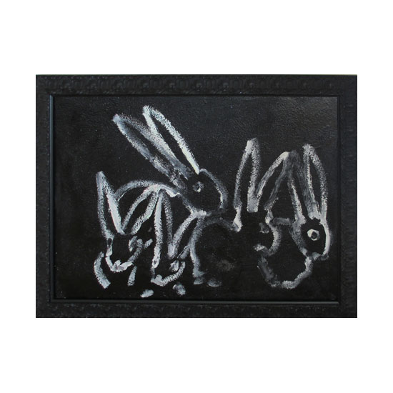 3644 ledgend mostly AT0088 2013 oil on canvas 30by40 unframe 36by46 frame Hunt Slonem <!  (Old) Bunnies [do not use]  >
