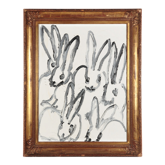 Untitled KS0095 Oil on canvas 33x25 Hunt Slonem <!  (Old) Bunnies [do not use]  >