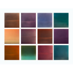 Evening grid 36x48 dye pigment lacquer resin on aluminum plate 150x150 Miya Ando