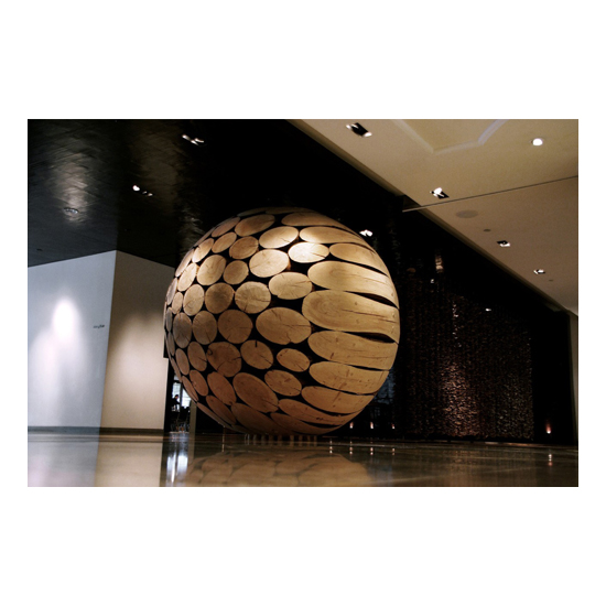Park Hyatt Hotel Taiwan wood larch 2005 Jaehyo Lee <!  Installations  >
