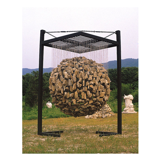 design ideas fascinating suspended rock installations jaehyo lee on the topic of suspended stone installations 11 Jaehyo Lee <!  Installations  >