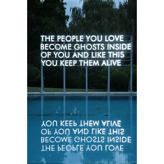 PEOPLE YOU LOVE installed Manja Gideons house Low Res 3 WEB Robert Montgomery <!  Light Poems  >