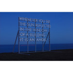 sun reflected in the window 150x150 Robert Montgomery <!  Light Poems  >