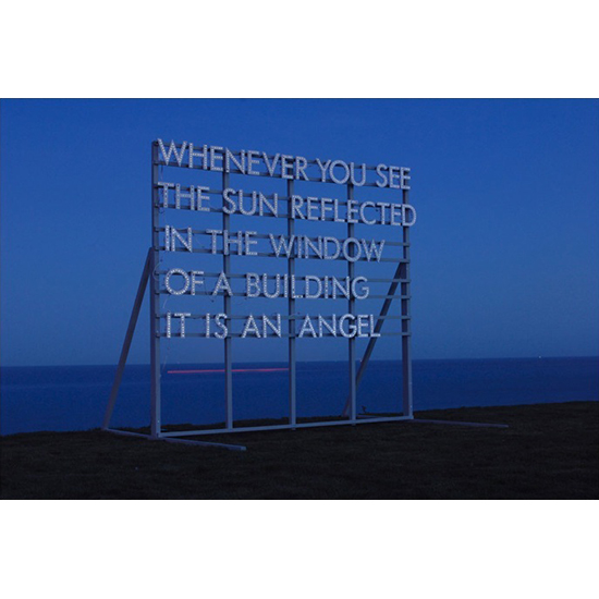 sun reflected in the window Robert Montgomery <!  Light Poems  >