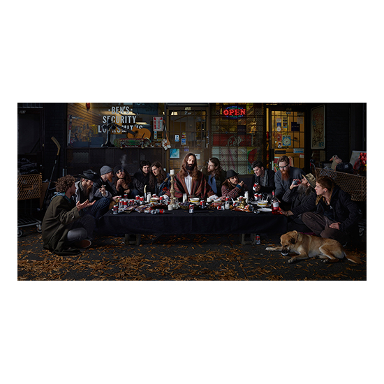 GOS Last Supper Dina Goldstein <!  Gods of Suburbia  >