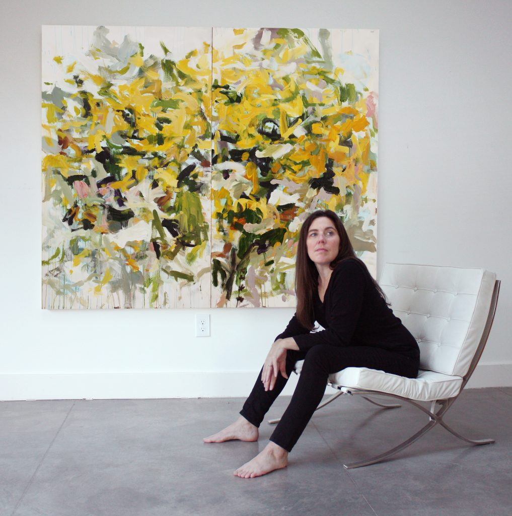 me sitting with golden moment 2  1017x1024 Karen Silve <!  Biography  >