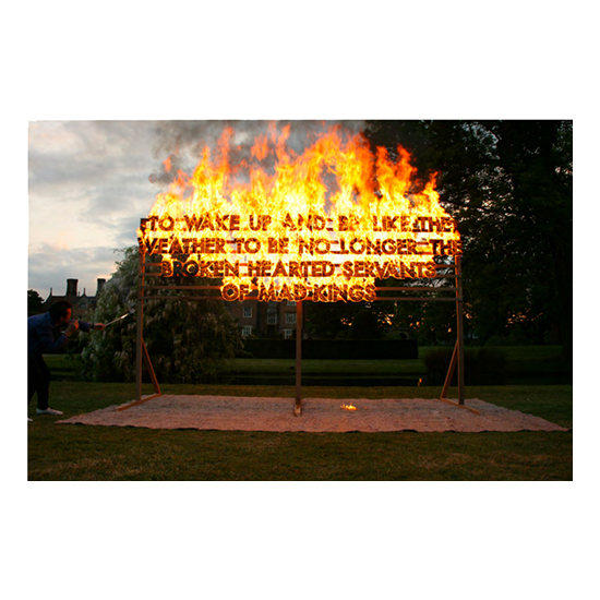 Great Fosters Fire Poem 39x28 copy Robert Montgomery<!  Prints  >