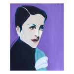 Muse Dora Maar 12.5 x 10 inches casein on panel 150x150 Shelley Adler
