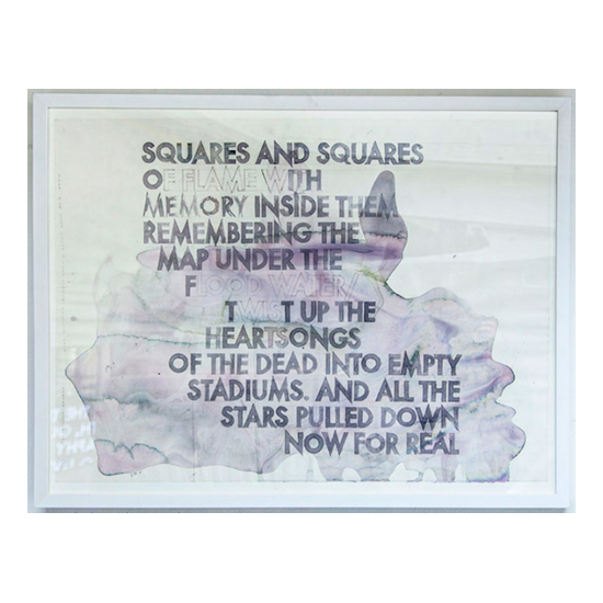 Poem for Ezra Pound and Kurt Cobain 22x30 copy Robert Montgomery <!  Watercolors  >