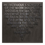 Seattle Poem Deciduous Knowledge 38 x 38 150x150 Robert Montgomery <!  Woodcuts  >