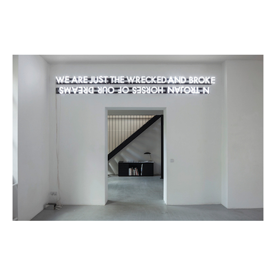 Trojan Horses of Our Dreams 12.5 x 118 Robert Montgomery <!  Light Poems  >