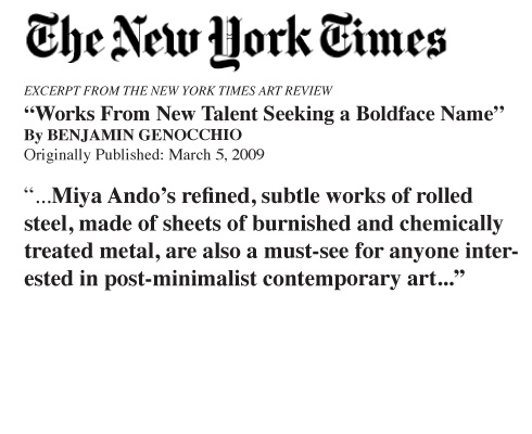 nytimes new York times miya ando miyaando The New York Times  Miya Ando 2009 press miya ando press misc press