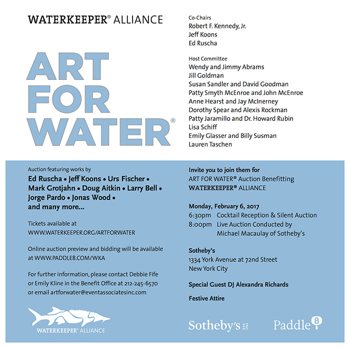 Art For Water Art For Water: New York 2017 charity events