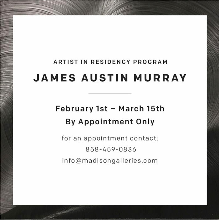 james austin murray aritst in residence 1 Madison Gallery   James Austin Murray, 2017 recent press press misc press