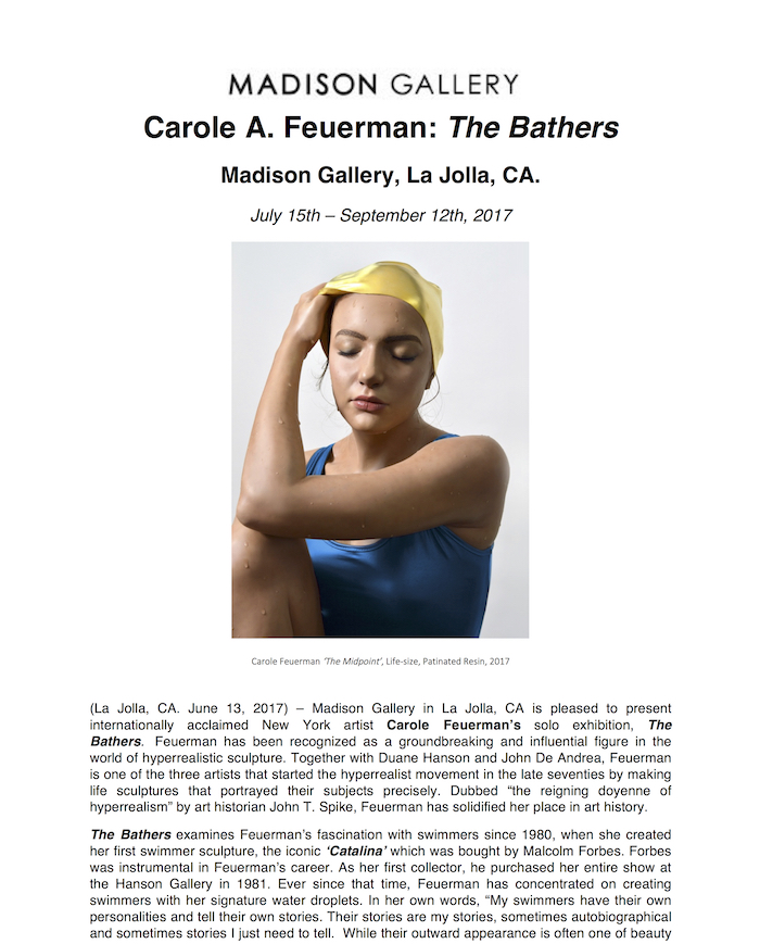 Carole A1 Carole Feuerman The Bathers exhibitions past exhibitions