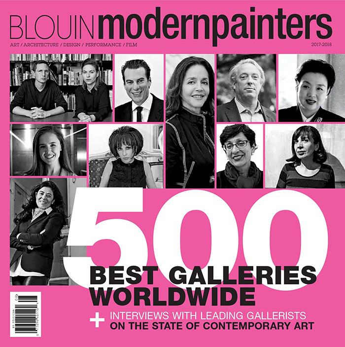 MP1 Modern Painters Magazine & Blouin ARTINFO – Top 500 Annual 2017 recent press modern painters