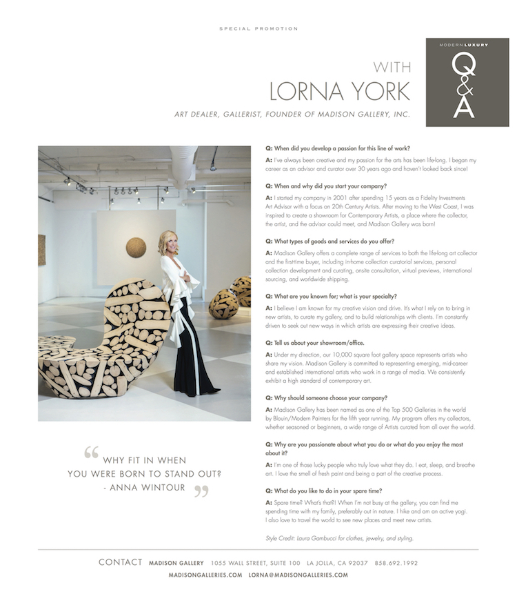 Modern Luxury Lorna Feature 10.17 Modern Luxury, Lorna York, 2017 recent press press modernluxury gallery