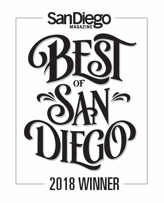 BOSD Badge 18 San Diego Magazine, Best of San Diego, 2018 recent press press misc press gallery