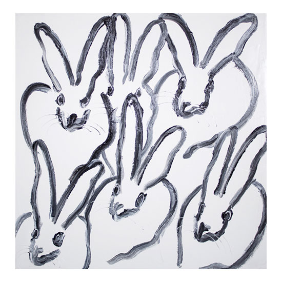 Hutch CER01032 30 x 30 Hunt Slonem <!  Bunnies  >