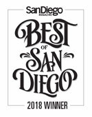 "San Diego Magazine, ""Best of San Diego"", 2018"