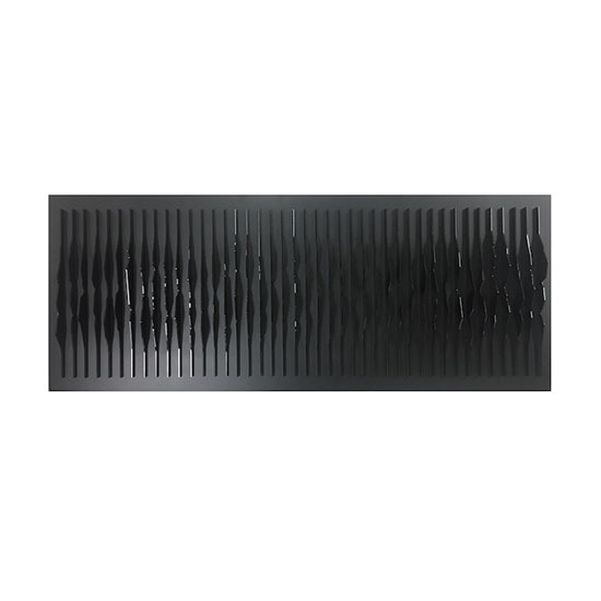 MAREO Frequencies Black Plexiglas on wood panel 130x50x10cm  Mareo Rodriguez <!  Frequencies  >