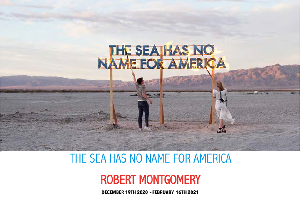 Robert Montgomery- Sea has no name – Current splash page